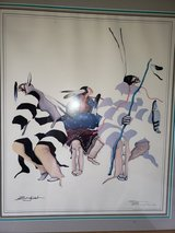 Sam English Lithograph Framed  25x30 Him, Her, Him Dancing 1989 in Bolingbrook, Illinois