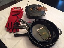 Cabela's  Cast Iron Set + Gloves + Lid Lifter in Spring, Texas