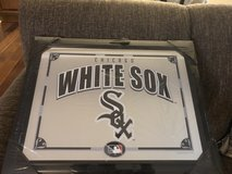 "New White Sox Mirror in Black Wood Frame -22.8"" x 17.9"" in Glendale Heights, Illinois"