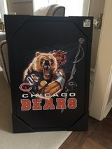 "New Chicago Bears Art in Black Frame - 36"" x 25"" in Glendale Heights, Illinois"