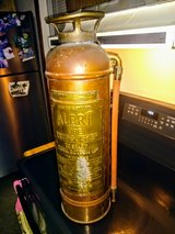 antique brass and copper fire extinguisher in Cherry Point, North Carolina