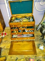 antique tool box full of antique tools in Cherry Point, North Carolina