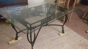 Beveled Glass Wrought Iron Dining Table in Warner Robins, Georgia