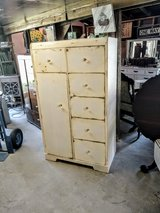 antique chalk painted cedar closet in Cherry Point, North Carolina