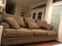 Like New!  Oversized couch and chair with otoman in Cherry Point, North Carolina