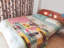 Price reduced Queen Bed with one free set of four cover in Okinawa, Japan