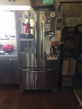 Maytag stainless steel French door refrigerator in Okinawa, Japan