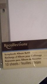 NEW 2 packs White Photo Album Refills by Recollections in Moody AFB, Georgia
