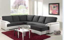 United Furniture - Vito Sectional with Chaise- Chaise also on opposite side - Two Tone or Solid in Ramstein, Germany