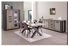 United Furniture - Miko Dining Set in Dark Forest + Black including delivery in Ramstein, Germany