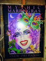 1991 signed MARDI GRAS official print in Camp Lejeune, North Carolina