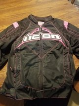 Icon womens large riding jacket in Camp Lejeune, North Carolina