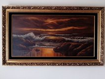OIL PAINTING ON CANVAS WITH GOLDEN WOOD FRAME BY LEE REYNOLDS in Orland Park, Illinois