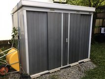 Japanese shed, outdoor storage in Okinawa, Japan