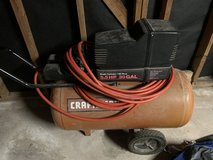 Air compressor and hose in Kingwood, Texas