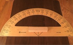 Large Wooden Protractor in Chicago, Illinois