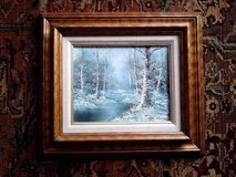 "OIL PAINTING ON CANVAS WITH GORGEOUS WOOD FRAME, 17"" BY 15"" in Westmont, Illinois"