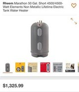 Non Metallic Lifetime Electric Tank Water Heater in Fort Riley, Kansas