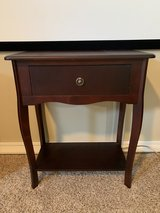 Small end table, walnut, for entry way or bedroom in Kingwood, Texas
