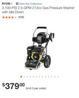 Ryobi Pressure Washer in Fort Riley, Kansas
