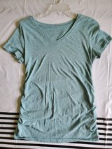 Green shirt sleeve maternity shirt in Okinawa, Japan