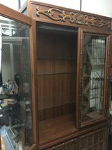 teak lighted cabinet over 38 years old in Okinawa, Japan