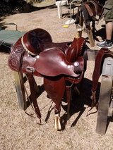 Rawhide tooled western saddle in Alamogordo, New Mexico