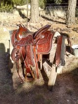Fancy tooled western saddle in Alamogordo, New Mexico