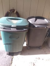 Trash cans in Shorewood, Illinois