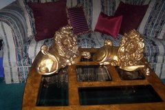 Rare Kay Finch/Freeman McFarlin Goldleaf Lions Huge Set From the 60's in Bolingbrook, Illinois