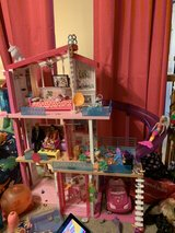large Barbie Dollhouse with multiple accessories in Chicago, Illinois