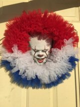 Hand Made Creepy Pennywise Halloween Wreath in Glendale Heights, Illinois