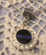 Thin Blue Line Texas Pendant with Crystals on Stainless Chain in Kingwood, Texas