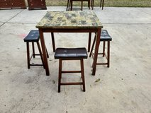 Tall Marble Table With Three Stools! in Warner Robins, Georgia