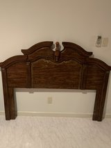 Wood Headboard for Full Size Bed in Okinawa, Japan
