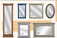 United Furniture - Mirrors with Solid Wood Frame - in all colors and finishes in Ramstein, Germany