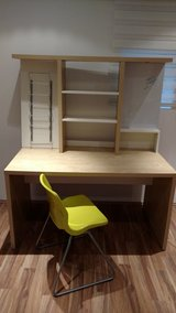 Ikea desk and chair in Ramstein, Germany