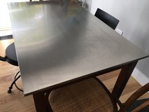 Stainless steel top table in Naperville, Illinois