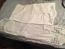 Vintage dresser scarf and matching pillow cases in Kingwood, Texas