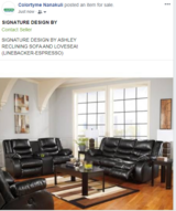 Signature Design  Sofa and Loveseat in Schofield Barracks, Hawaii