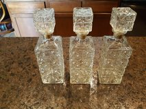 Set of 3 Decanters in Conroe, Texas
