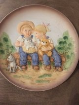 Vintage demin days plate in Spring, Texas