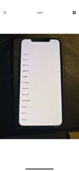 iPhone XS Max 64 GB AT&T (crack in screen check pictures in Fort Polk, Louisiana