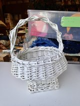 Unique White Wicker Basket for Flowers in Bolingbrook, Illinois