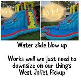 Water slide blow up in Joliet, Illinois