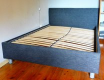 Like New Ikea Bed Frame with Boxsprings in Ramstein, Germany