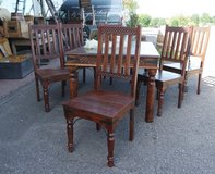 timeless solid mango wood dining room set with 6 chairs in Stuttgart, GE