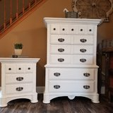 Refinished weathered & distressed dresser & nightstand in Joliet, Illinois