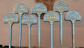 Solid Brass Herb Stakes in Naperville, Illinois