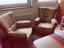 Chairs 2 wicker with cushion in Stuttgart, GE
